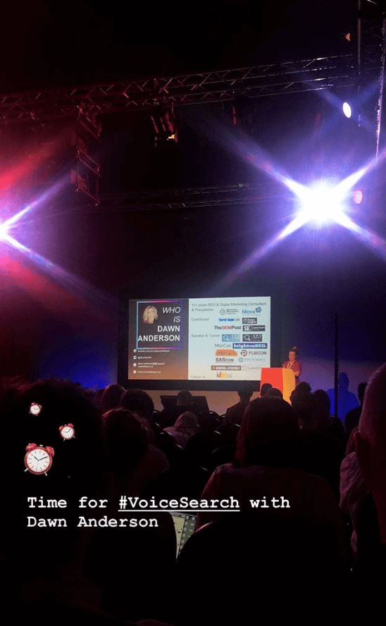 Voice Search - Dawn Anderson - European Search Conference 2018