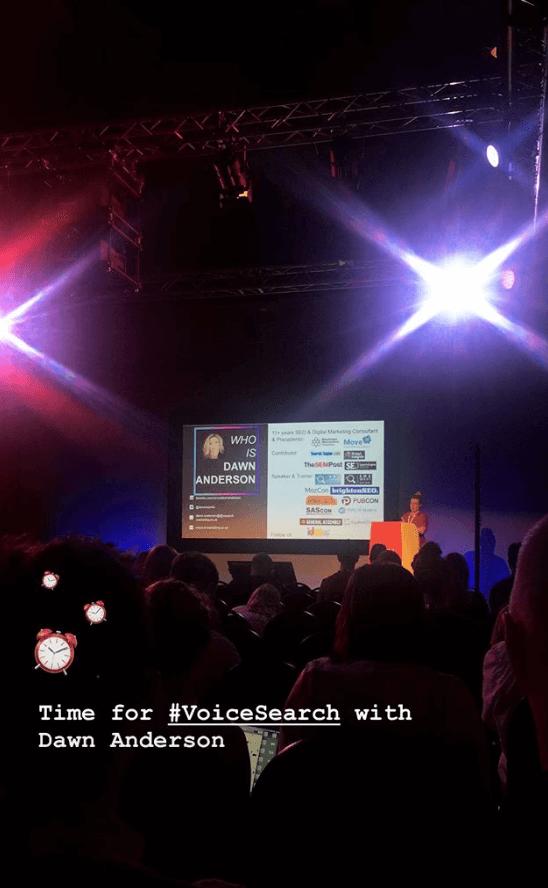 Voice Search - Dawn Anderson - European Search Conference 2018