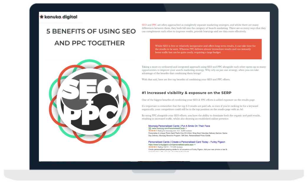 Kanuka Blog Post | 5 Benefits of Using SEO and PPC Together