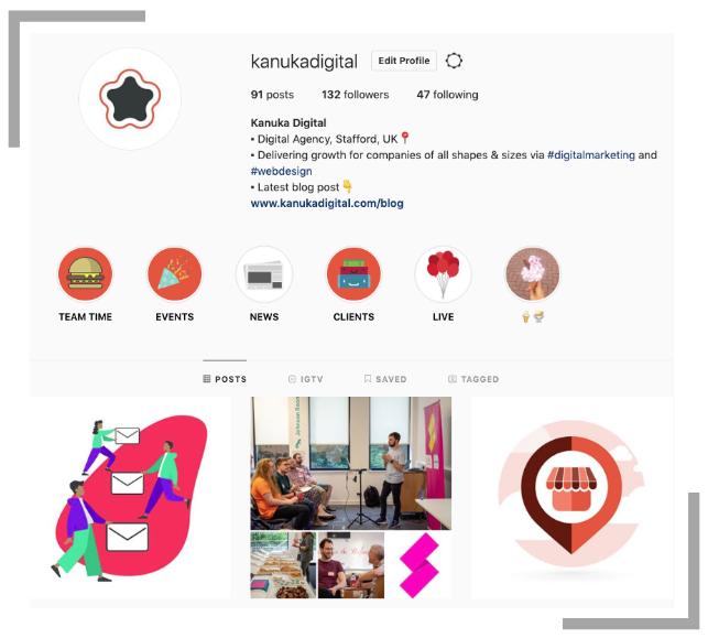 Instagram Stories Highlights