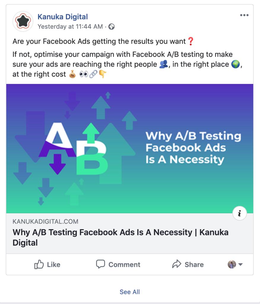 Social Media Image Size Guide | Kanuka Digital