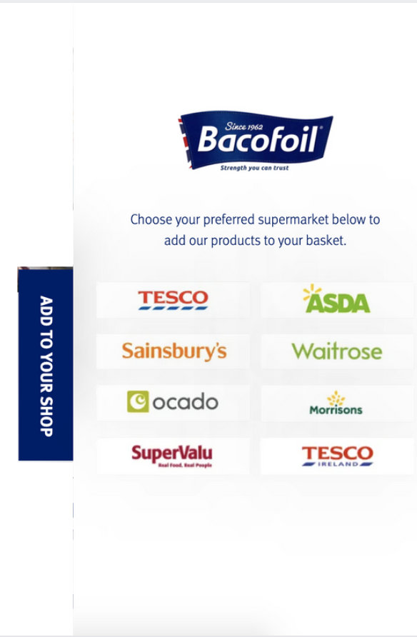 Bacofoil preferred retailers